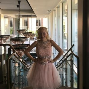 Dresses & Skirts - Two Piece Light Pink Homecoming Dress